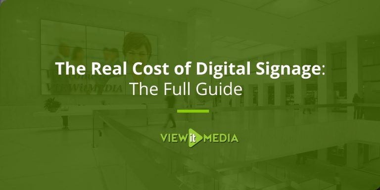 How Much Does Digital Signage Really Cost?